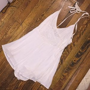 Forever 21 White Lacy Romper!! Gorgeous!!